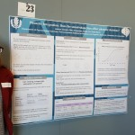 "A student poses with her poster ""Phonetic Integration: Does the sound-shape bias affect phonetic decisions?"" at the 2016 UConn Language Fest."